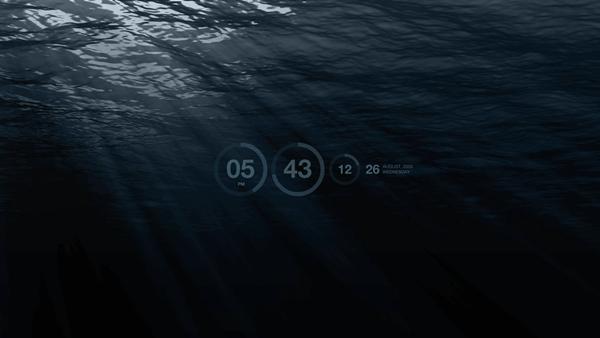 水中スクリーンセーバー