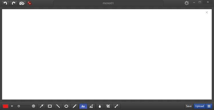 monosnapの操作画面
